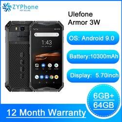 Прочный смартфон Android 9,0 IP68 5,7 дюймHelio P70 6 ГБ, 64 ГБ, 10300 мА/ч, мобильный телефон, 4G мобильный телефон с двумя sim-картами Android Ulefone power 3 Вт