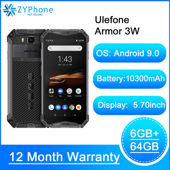 Перейти на Алиэкспресс и купить Прочный смартфон Android 9,0 IP68, 5,7 дюймHelio P70 6G 64G 10300 мАч сотовый телефон 4G мобильный телефон с двумя sim-картами Android Ulefone Armor 3W