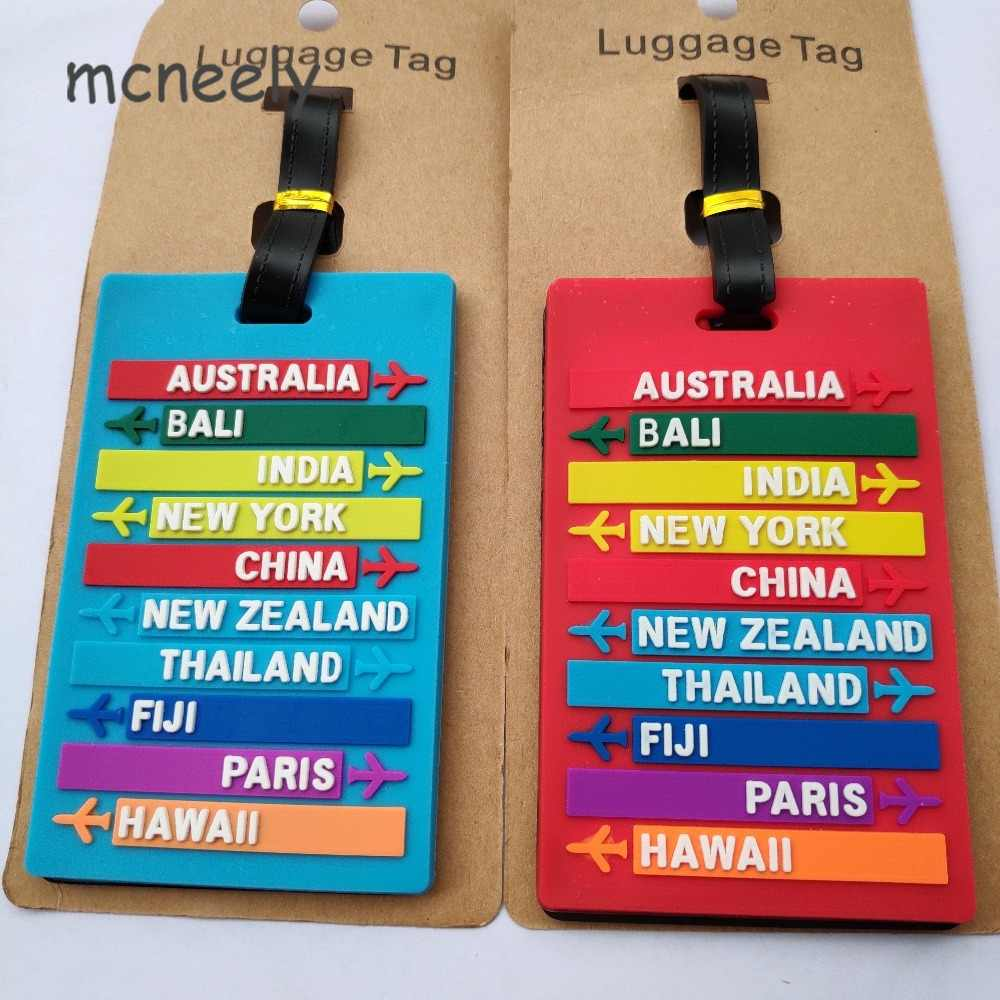 Reizen Accessoires Creatieve Bagage Boarding Tags Bagagelabel Dier Cartoon Silicagel Koffer Id Addres Houder Draagbare Label