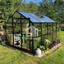 Уличный водонепроницаемый алюминиевый беседка/сад зеленый дом сад черный цвет теплицы для продажи