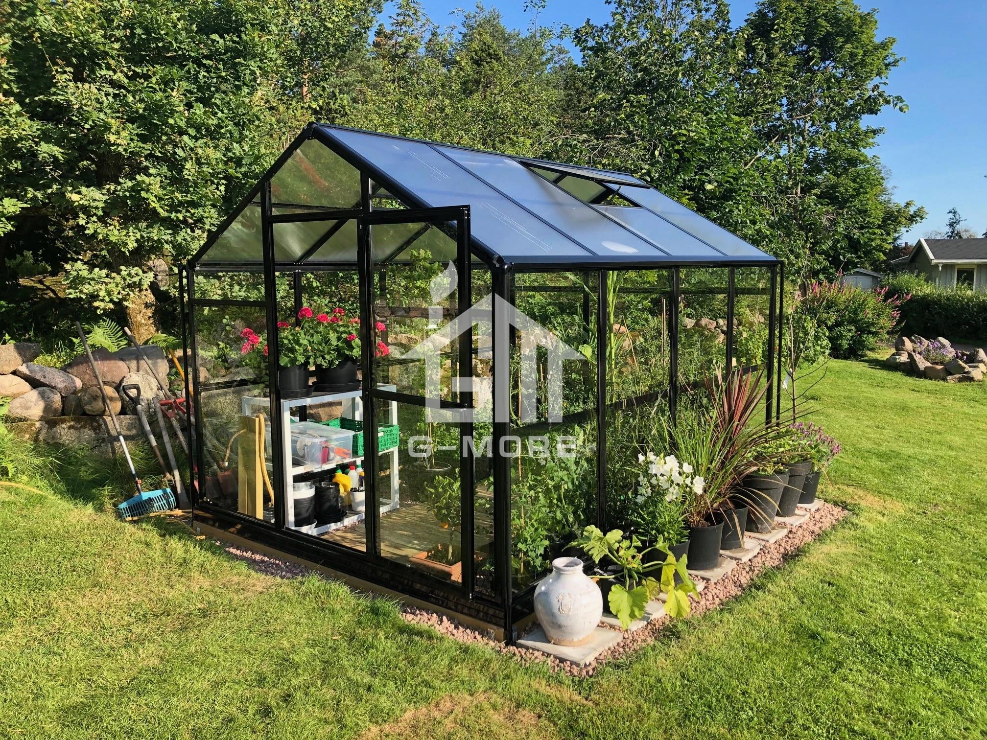 Outdoor Waterproof Aluminum Gazebo Garden Green House Garden Black Color Greenhouse For Sale Garden Greenhouses Aliexpress