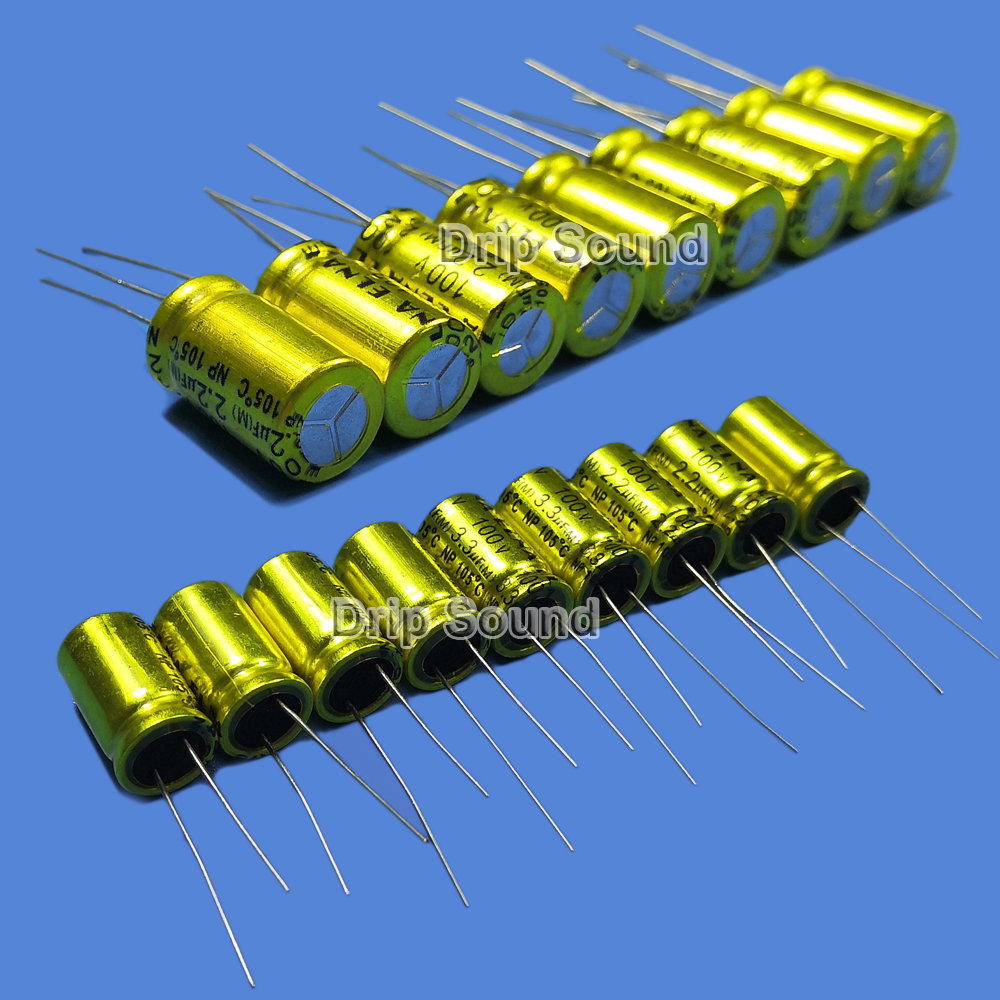 2pcs 1.5uF-22uF 100V Car Tweeter Audio Speaker Frequency Divider Crossover Non-Polarity Electrolytic Capacitor