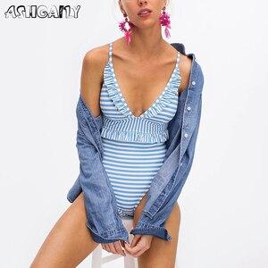 Image 1 - 2020 חתיכה אחת בגד ים הדפסת לדחוף את לפרוע Monokini נשים בגד גוף מאיו דה ביין חוף ללבוש חליפת אמבטיה XXL