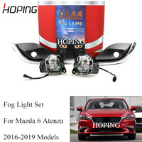 Hoping Good Quality For Mazda 6 Atenza 2016 2017 2018 2019 Front Bumper Fog Light Fog Lamp Wiring Switch Harness Kit Set