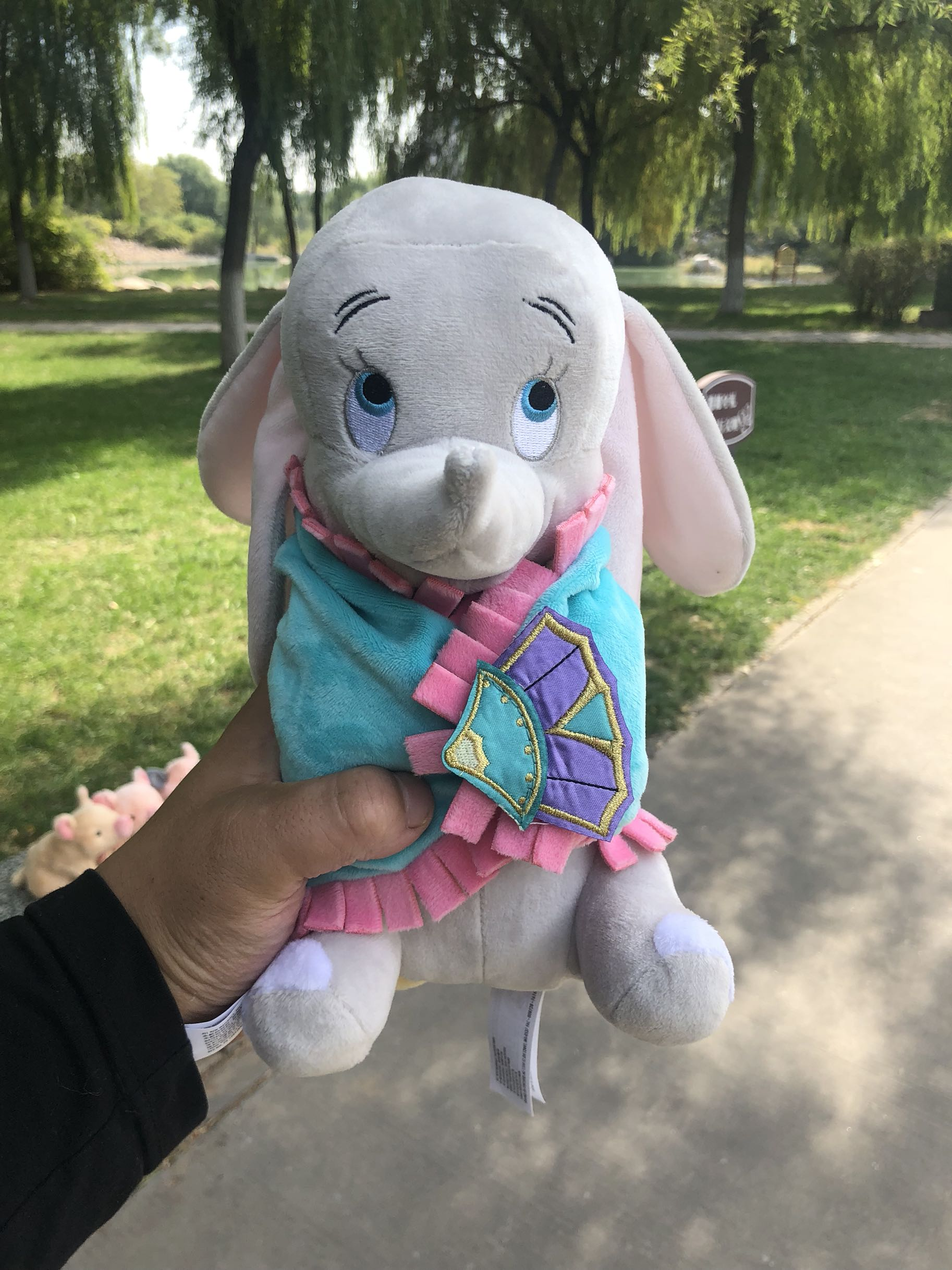 Cute Dumbo Baby Swaddle Elephant Stuff Animal Plush Toy Doll Baby Kids Toys Birthday Gift