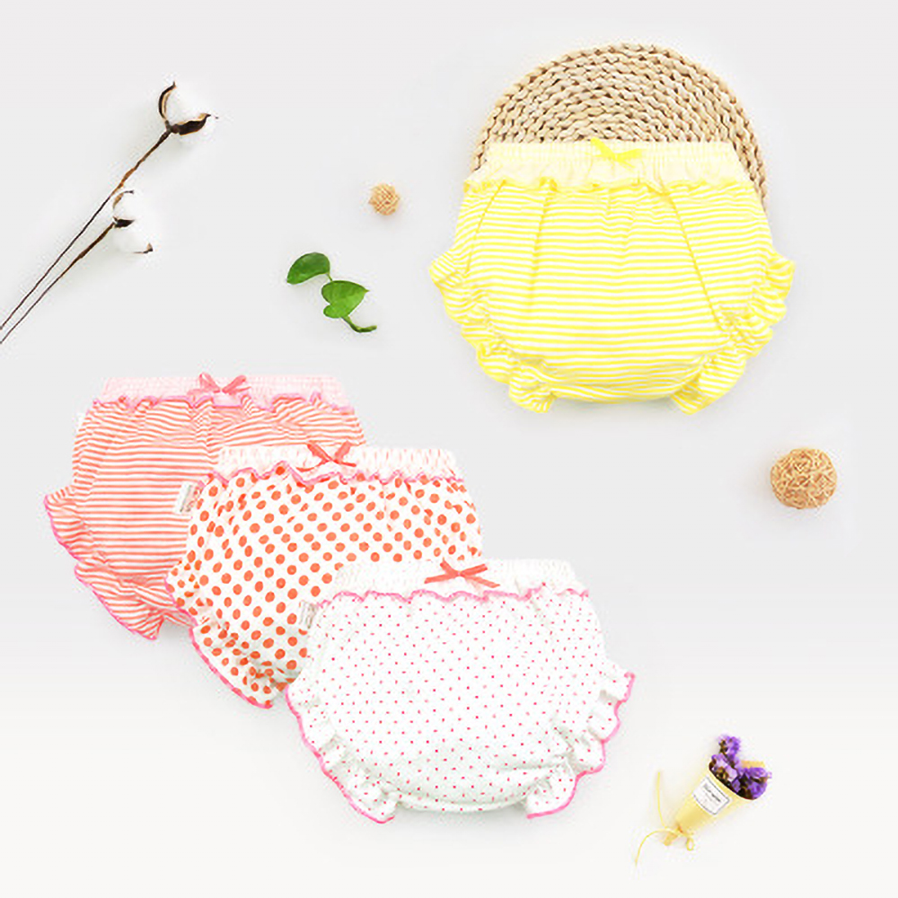 Baby Underwear Underpants.Kids,Girl,Infant Fashion Stripe Bow Panties For Children High-quality Shorts Gifts