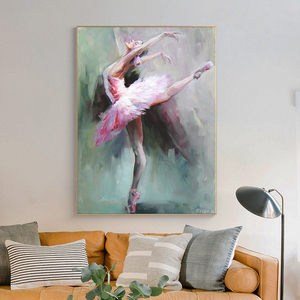 Abstract Ballerina Portrait Canvas Painting Posters and Prints Dance Girl Art Wall Picture for Living Room Frameless quadro