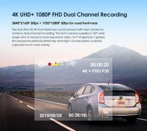 Image 4 - ダッシュカム 4 18k車dvrフロントとリアビューカメラソニーセンサーgps dvrカメラ車のビデオレコーダーダッシュカムプロ自動レコーダー