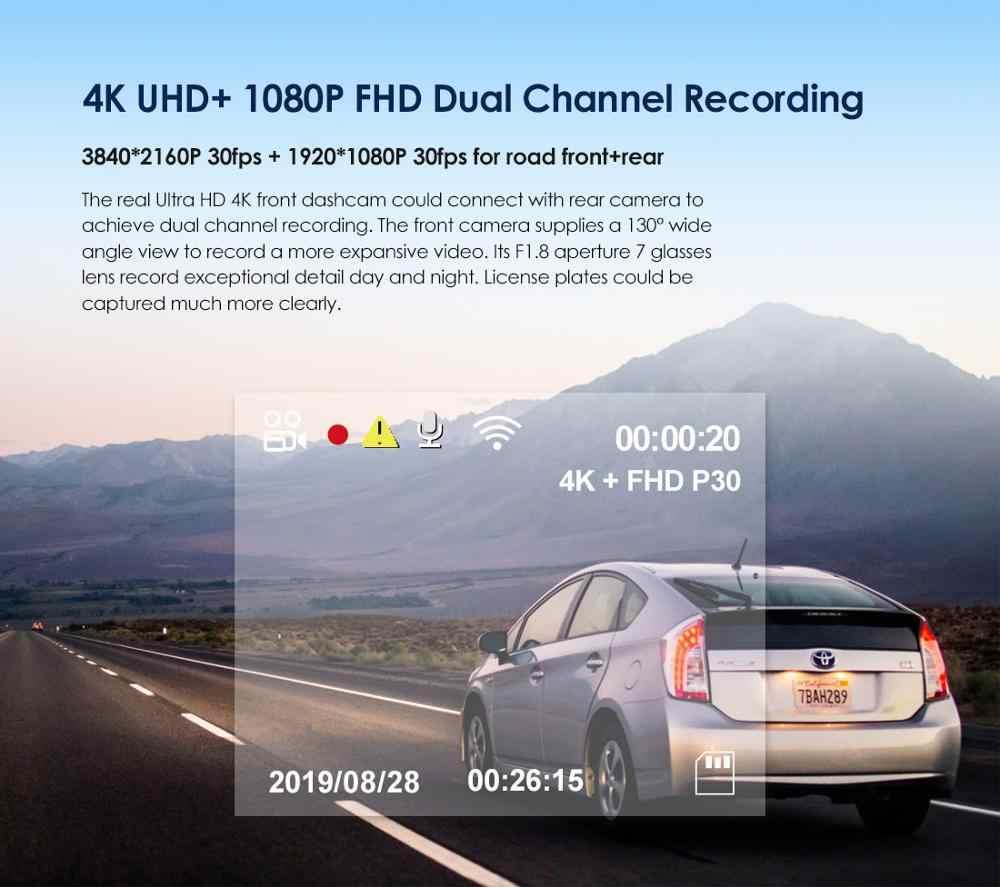 Dash Cam 4K DVR Xe Ô Tô Trước Và Camera Sau Với Cảm Biến Sony GPS Đầu Ghi Hình Camera Cho Xe Hơi Video đầu Ghi Hình Dash Cam Pro Tự Động Đầu Ghi