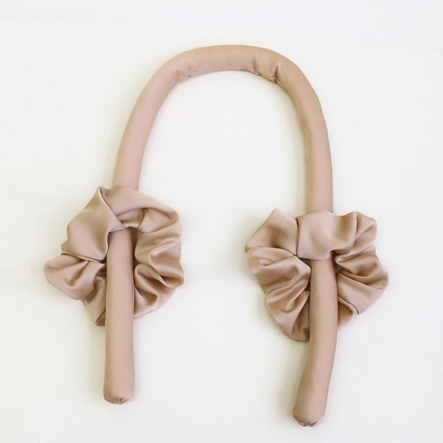 Lystrfac Slik Satin Heatless Hair Curler Headband for Women Hair Wrap Curling Ribbon Girls Scrunchies Headwear Hair Accessories 4