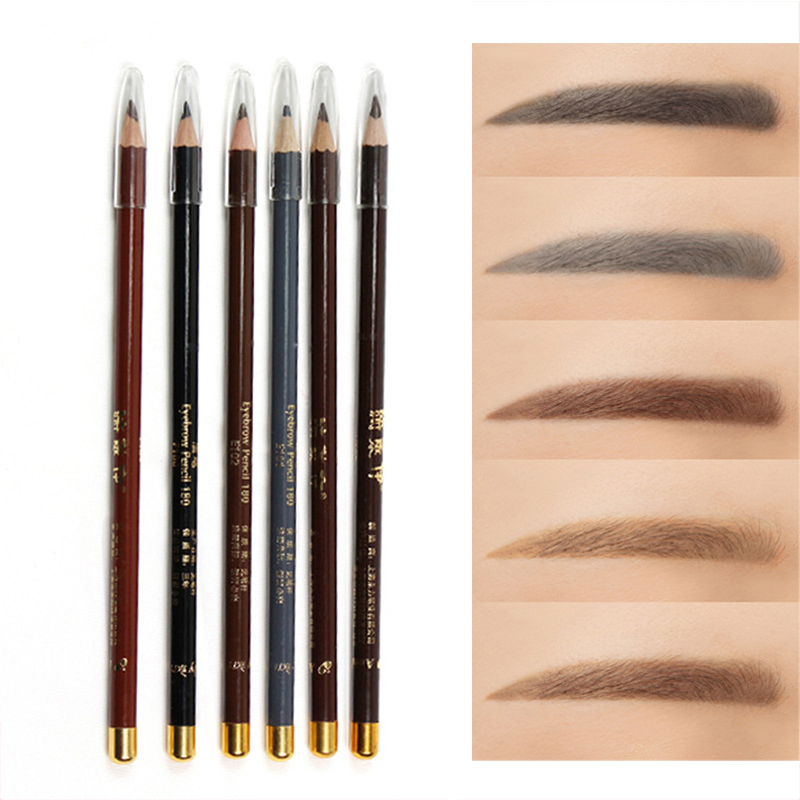6 Colors Long-lasting Double-headed Eyebrow Pencil Waterproof Eyebrow Enhancer Dye Tint Pen Fashion Easy To Color Makeup Tools