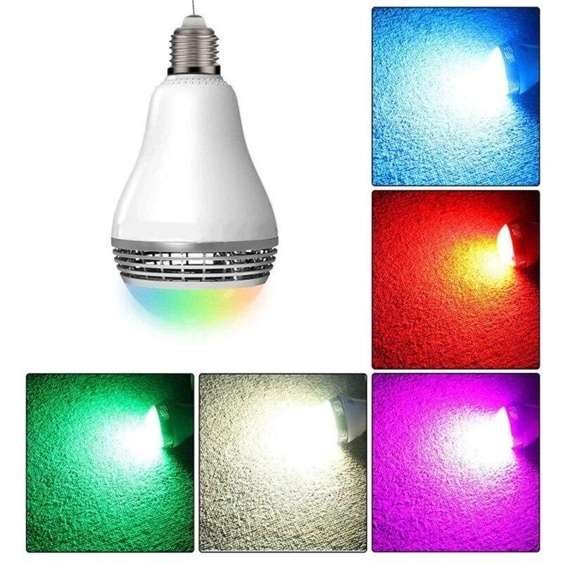 Беспроводной светодиод BT музыкальный светильник лампа с умным bluetooth динамиком многоцветное изменение приложения управление RGB подключение один к одному - 6