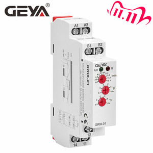 Image 1 - Free Shipping GEYA GRI8 01 Current Monitoring Relay Current Range 8A 16A AC24V 240V DC24V Overcurrent Protection Relay