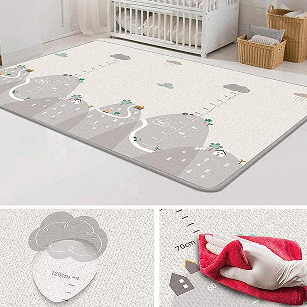 Baby Mat Eco-friendly Comfortable Ldpe Silk Non-slip Versatile Carpet Cartoon Suitable Prevent Violent Falls Children Playmat