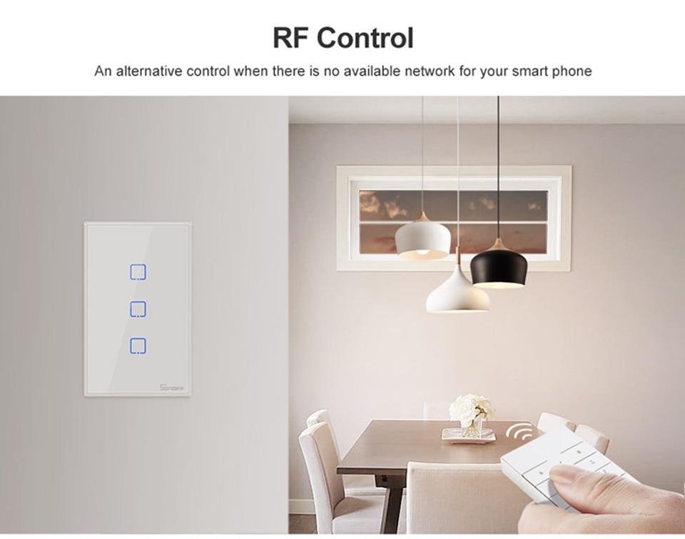 Sonoff t2 t3 wifi interruptor de parede