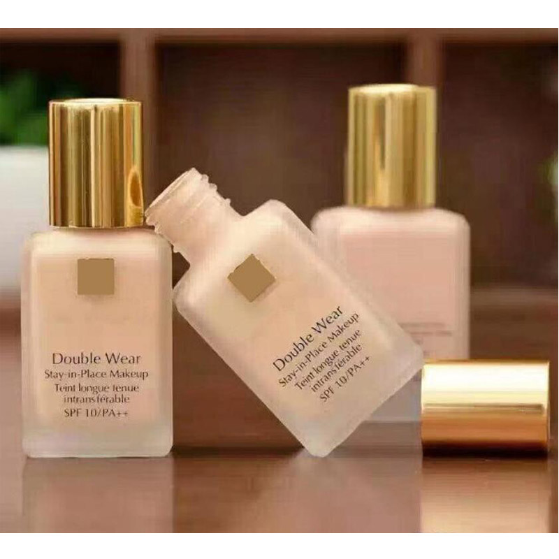 Face Skincare Double Wear Liquid Foundation Stay In Place Makeup 30ml Nude Cushion Stick Radiant Makeup Foundation 30ml