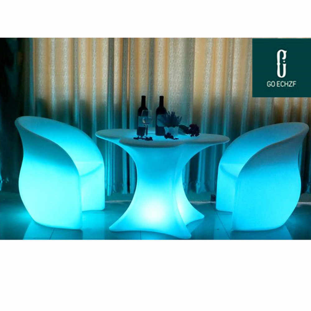 Rechargeable Led Lilluminated Cocktail Table Waterproof Glowing Led Bar Table Lighted Up Coffee Table Bar Ktv Disco Party Supply Bar Tables Aliexpress