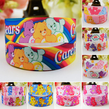 7/8 (22mm) Care Bears Cartoon Character printed Grosgrain Ribbon party decoration satin ribbons OEM 10 Yards Mul077