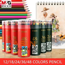 M&G 12/24/36/48 Colors Wood Colored Pencils Lapis De Cor Artist Painting Oil Color Pencil For School Drawing Sketch Art Supplies