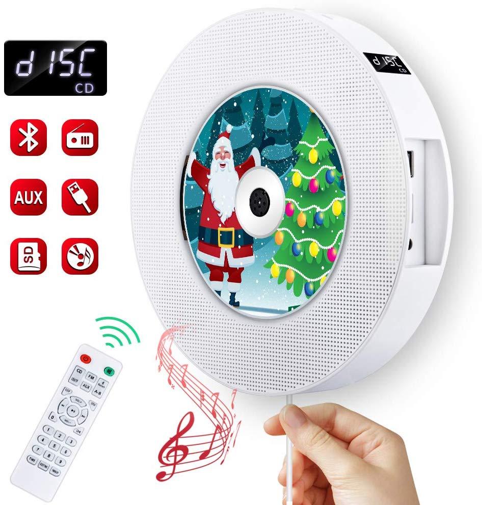 KECAG EStgoSZ lecteur CD mural sans fil Bluetooth lecteur de musique à domicile avec télécommande FM haut-parleurs Radio MP3