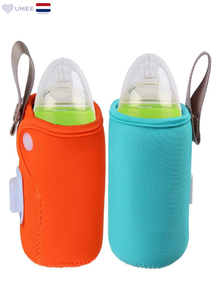 USB Baby Bottle Warmer Portable Travel Milk Warmer Infant Feeding Bottle Heated Cover Insulation Thermostat Food Heater