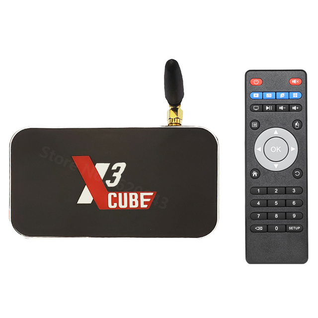 Original UGOOS X3 PRO X3 CUBE Amlogic S905X3 Android 9.0 TV Box 4G DDR4 32GB décodeur intelligent 5G WiFi Bluetooth 4K lecteur multimédia