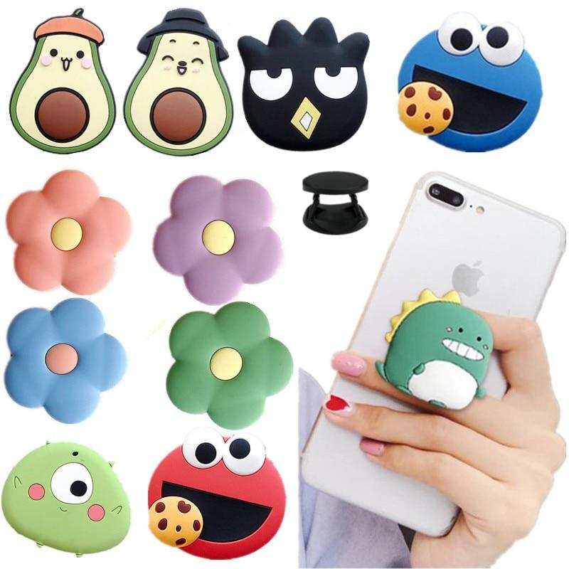Soporte de Teléfono Universal para teléfono móvil iphone y xiaomi, accesorio de expansión con agarre elástico y dibujos animados