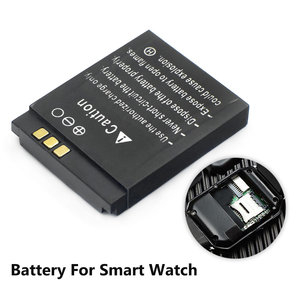 LQ-S1 3.7V 380mAh GTF Smart Watch Battery GTF Durable lithium Rechargeable Battery For Smart Watch QW09 DZ09 W8 image