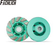 FACHLICH 2pcs 125mm Diamond Turbo Row Grinding Cup Wheel For Concrete Masonry Granite Marble 5inch Grinding Disc Sanding Disc
