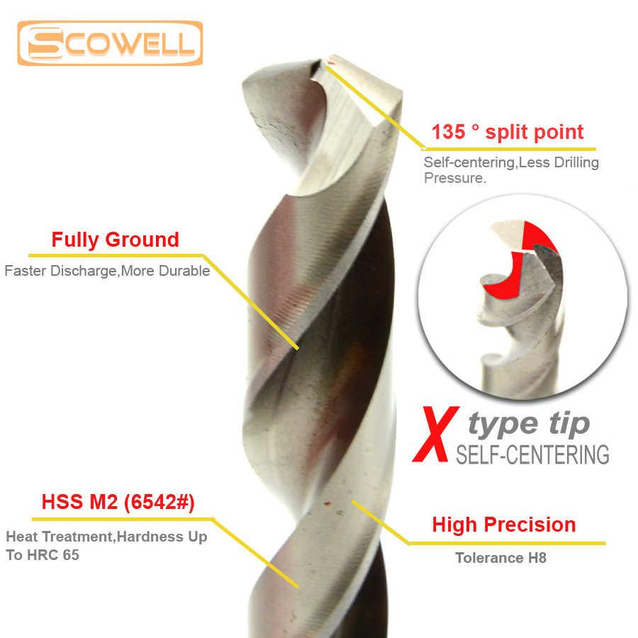 30% Off SCOWELL 19 قطعة HSS لقمة ثقب تويست لقمة ثقب مجموعة 1.0 ~ 10 مللي متر HSS P6M5 Jobber الحفر للمعادن كامل الأرض عالية السرعة الصلب