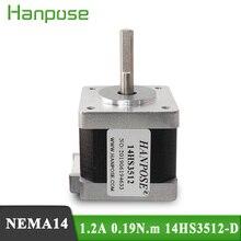 100 pièces Nema14 moteur pas à pas 35mm 0.19N.cm 1.2A 14HS3512  D 35 série moteur pour imprimante 3D moniteur équipement