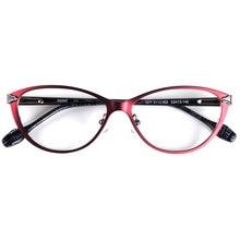 Itália designer óculos feminino óculos de olho de gato quadros para óculos de prescrição dobradiça de mola