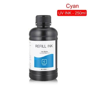 Image 3 - 250ML 5Bottles/Set LED UV Ink For DX4 DX5 DX6 DX7 Printhead For Epson 1390 R1800 R1900 4800 4880 7880 9880 UV Flatbed Printer