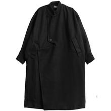 Odzież męska Yamamoto ciemne małe nieregularne luźne z wełny długie powyżej kolana Blazer tanie tanio IKKB CN (pochodzenie) Pełna Wełna mieszanki Stałe long Skręcić w dół kołnierz