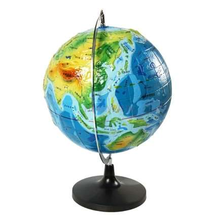 Three-dimensional Topographic Globe With A Diameter Of About 32cm