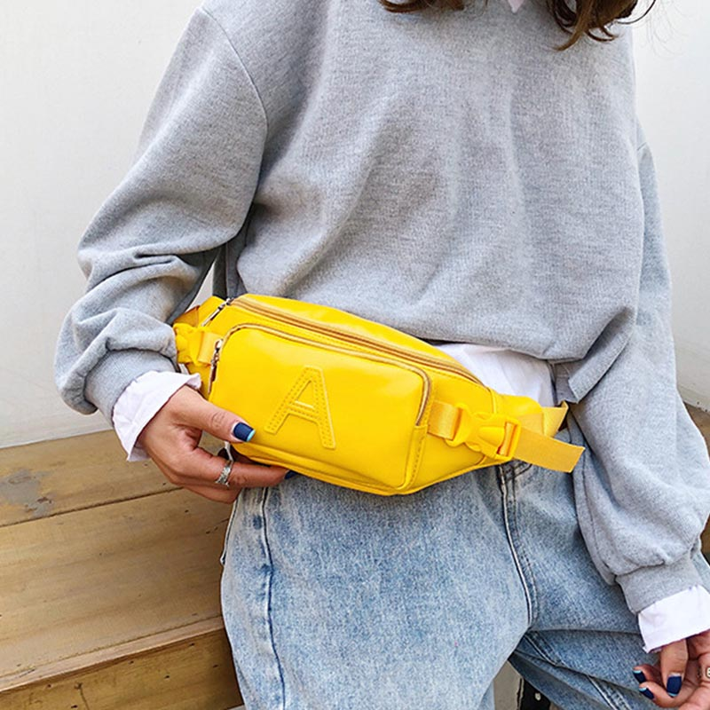 Women's Waist Bag Fanny Pack Fashion Belt Bag Banana Bags Handy Pocket Female's Hip Packs Shoulder Messenger Pack Bum Package