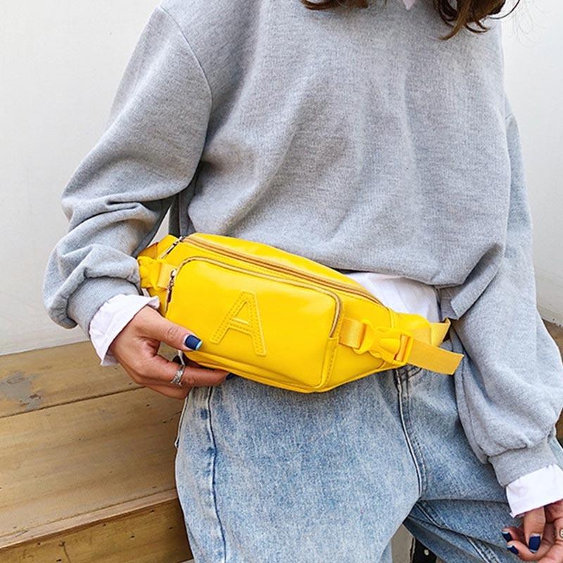 Women's Waist Bag Fanny Pack Fashion Belt Bag Banana Bags Handy Pocket Female's Hip Packs Shoulder Messenger Pack Bum Package