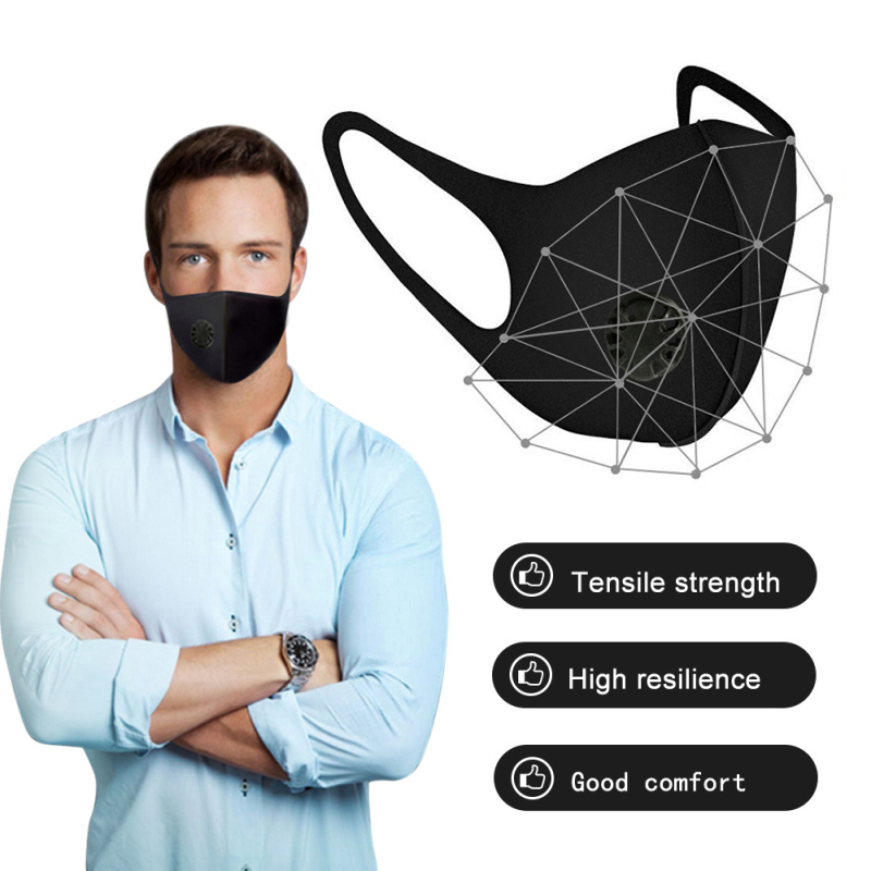 Face Mask Dust Mask Air Purifying PM2.5 Mask Mouth Air Purifying Mouth Muffle Filter Washable Anti Dust Fog Respirator Mask