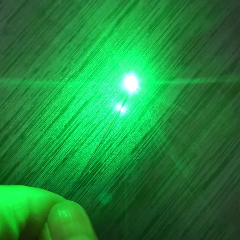 Pre-wired 3V #0402 SMD LED Green, 30cm Wires Pre Soldered, Hobby Model Kit/car/railway/railroad/starship/gundam Lighting