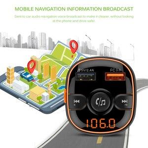 BC51 Bluetooth fm-передатчик Автомобильный MP3-плеер Беспроводное зарядное устройство беспроводной комплект USB зарядное устройство модулятор автомобильные аксессуары FLAC APE