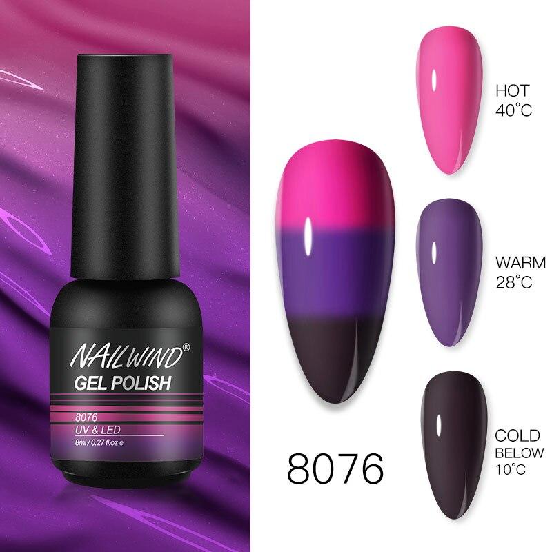 Гель NAILWIND, лак, ультрафиолетовая Светодиодная лампа, искусственная живопись, гибридный маникюрный набор для дизайна ногтей, требуется базо...