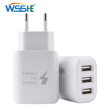 5V/2A 3 ports USB Charger for Mobile Phone Tablet EU plug Quick Charge 3.0 Travel Phone Charger Wall adapter white Fast Charging quick charge 3 0 usb charger travel for iphone samsung micro usb type c fast charging 3 ports eu us plug mobile phone charge