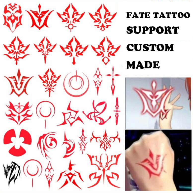 FGO Arturia Pendragon Saber Fate stay night Gaan Extra Archer Emiy Tohsaka Rin cosplay Animatie Cartoon logo tattoo Sticker