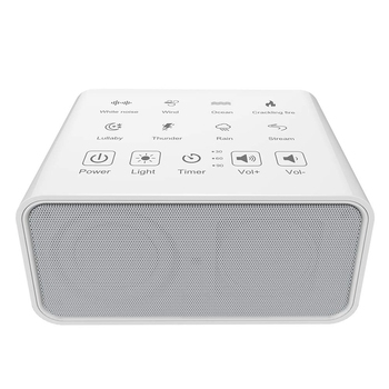 White Noise Machine, Sound Therapy Machine, Baby Sound Machine, with 8 Soothing Natural Sounds, 3 Timer, and Background Night Li