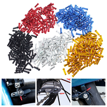 50pcs MTB Bike Bicycle Brake Shifter Inner Cable Tips Crimps Aluminum Cycling Part Shift Cables End Caps Bike Accessories image