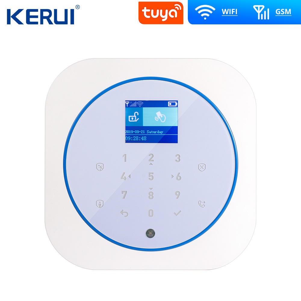 KERUI G12 Tuya App GSM WIFI Alarm System Full Touch RFID Card Panel Home Security Alarm Host Wireless APP Control 1
