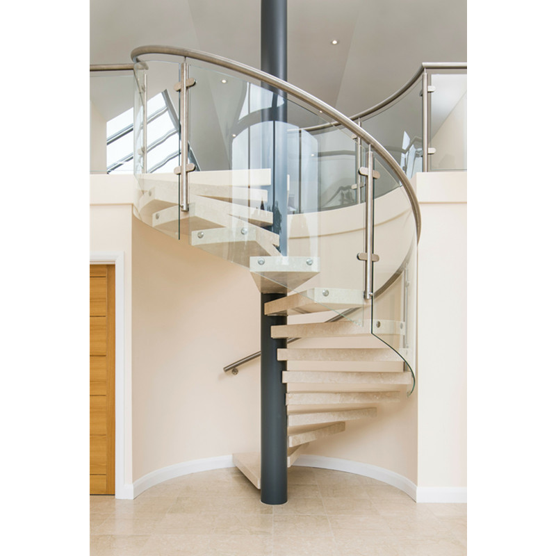 Stairs Grill Design For House New Design Round Glass Staircase   Glass Banister Near Me   Frameless Glass   Curved Staircase   Glass Panels   Modern Staircase Design   Toughened Glass