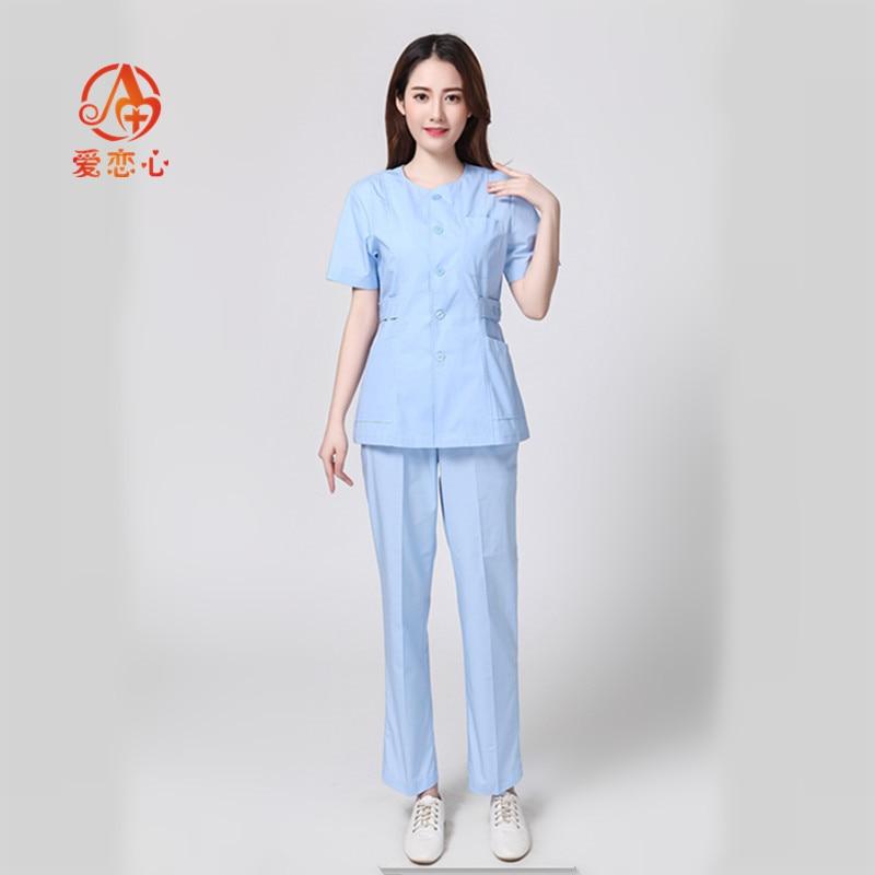 Fashion Hospital Medical Scrub Clothes Sets Dental Clinic Beauty Salon Nurse Uniforms Fashion Design Slim Fit Doctors Cloth ALX