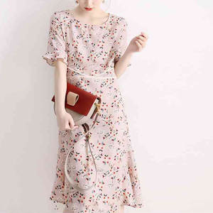 2020 Summer Mesh Party Dresses Short Sleeve Flare  good quality free shipping