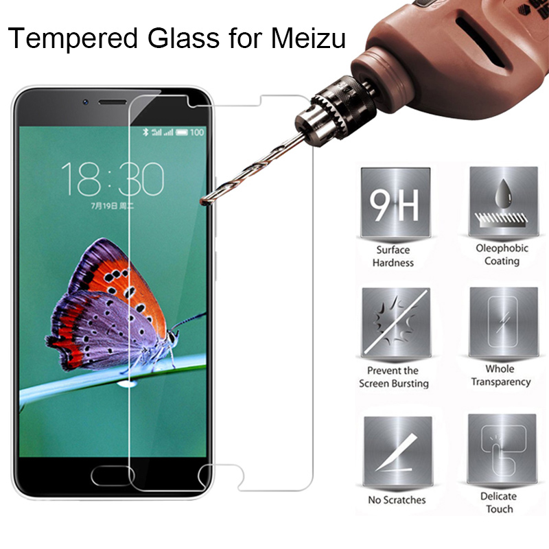 Protective Screen Protector For Meizu M6 Note M6S M6T Tempered Glass 9H Toughed Phone Front Film For Meizu M5C M5S M3S M5 M3 M2